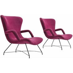 Eisler Hauner Pair of Magenta Chairs, 1950s ($26,400) ❤ liked on Polyvore featuring home, furniture and chairs