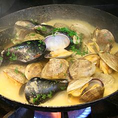 Classic Steamed Mussels for Friday Harbor Dining @ Coho Restaurant