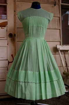 Hey, I found this really awesome Etsy listing at https://www.etsy.com/listing/156462996/vintage-1950s-sheer-mint-green-day-dress
