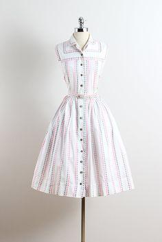 1950's 'Candy Buttons' Cotton Summer Dress