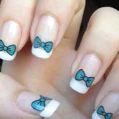Bow Nail Designs For Girls
