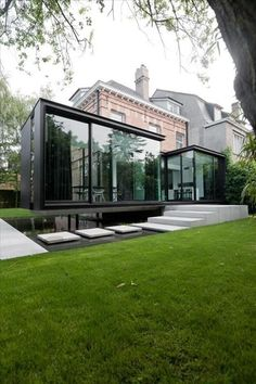 57 Excellent Exterior Home Design Ideas For Your Dream Home. The exterior part of your house is as important as the interior. When people first look at your house, it is the exterior part that they wi. Cantilever Architecture, Residential Architecture, Interior Architecture, Building Architecture, Landscape Architecture, Beautiful Architecture, Contemporary Architecture, House Extensions, Modern House Design