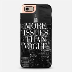 More Issues Than Vogue Manhattan Skyline Metaluxe iPhone6 Case @casetify
