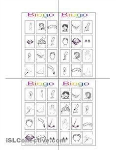 Bingo worksheet - iSLCollective.com - Free ESL worksheets
