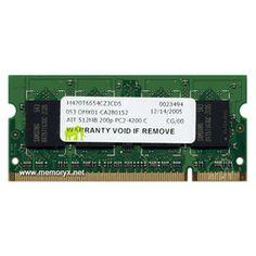 512MB Dell PC2-4200 DR2-533 200-pin SDRAM SODIMM (p/n 311-3743)