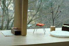 Made by Joel Modern Dollhouse 2.  Simple DIY dollhouse furniture. Rugs made out of scraps of furry fabric.