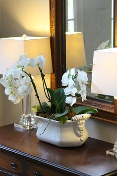 Woven Home: Decorating with Orchids