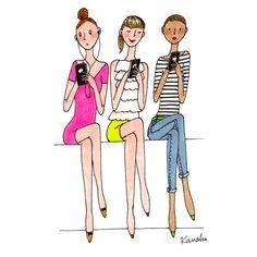 Pretty Drawings, Girly Drawings, Art Drawings, Illustration Mignonne, Cute Illustration, Ballet Fashion, Fashion Art, Drawing Poses, Drawing Sketches