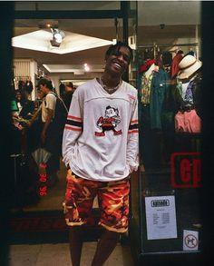 """If you keep believing, the dreams that you wish will come true. Asap Rocky Outfits, Asap Rocky Fashion, Lord Pretty Flacko, Rapper, A$ap Rocky, Rap Wallpaper, Star Wars, Trap, Fine Men"