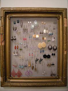 organize your earrings