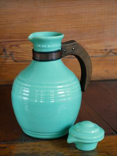 1930s Pacific Pottery Carafe // Turquoise Art by BiffAndBettys