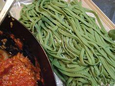 Handmade+Pasta:+Spinach+Fettuccine