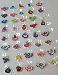 Crocheted Flower Necklace Oya with semiprecious by fatwoman