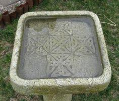 Celtic bird bath