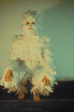 "Ana Mendieta, ""Bird Transformation"", 1972."