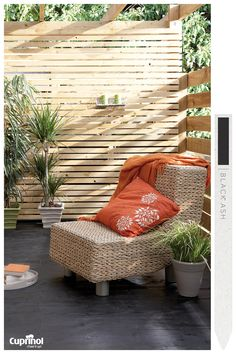 Create an exotic garden sanctuary with Cuprinol Ultimate Hardwood Furniture Oil and spruce up your decking with Cuprinol Garden Shades in Black Ash.