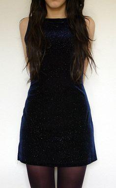 Vintage 90s Grunge Velvet Mini Dress XSmall by jemesuis on Etsy, $21.00