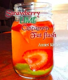 strawberry lime cinnamon fat flush water