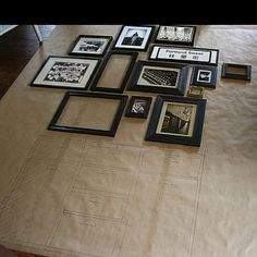 How to plan a picture frame grouping