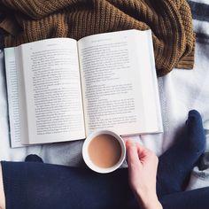 introvertedbookworm24:   Tea +Book= Happy reader / Tea, Coffee, and Books