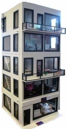 The Modern Apartment Building proves that a dollhouse does not need to be an actual house. Oh snap.