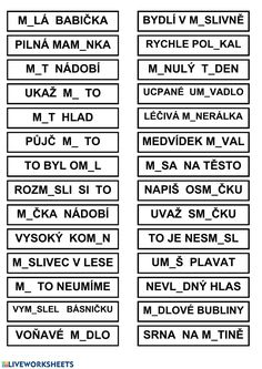Vyjmenovaná slova online worksheet for Grade 3. You can do the exercises online or download the worksheet as pdf. Worksheets For Grade 3, Forgot My Password, School Subjects, Google Classroom, You Can Do, Language, Teacher, Student, How To Plan