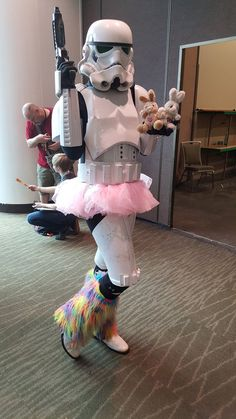 Saved by Rainbow Stormtrooper! Pip: I am SO adding a tutu to my stormtrooper outfit. Emerald City, Tutu, Harajuku, Bunny, Rainbow, Halloween, Outfit, Rain Bow, Outfits