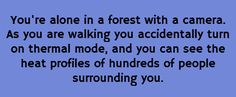 You're alone in a forest...