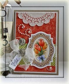 Thinking of you card designed by Beate Johns