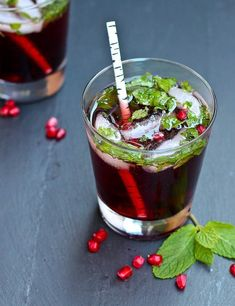 """Pomegranate Mojito 