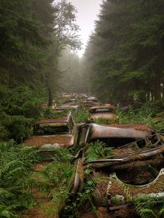 10 Abandoned Car and Vehicle Graveyards of the World