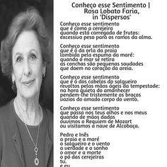 Rosa Lobato de Faria | Poema: Conheço esse sentimento