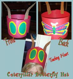 Caterpillar to Butterfly Hat  - Includes a FREE printable!