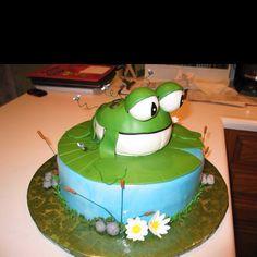 Frog cake By Jennifer Borchert's Cakes Jenniferncbt@yahoo.com