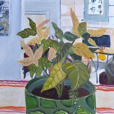 missannavaldez:Anna ValdezPoinsettia - oil on panel. 11 x 11 inches. 2015