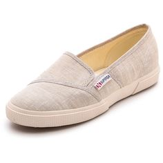 Superga Cotu Slip On Sneakers - Sand ($65) found on Polyvore- For trips coming up!