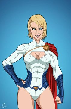 Supergirl commission by phil-cho on DeviantArt Power Girl Comics, Power Girl Dc, Gotham City, Power Girl Supergirl, Hq Dc, Justice Society Of America, Superman Family, Superman Art, Mundo Comic