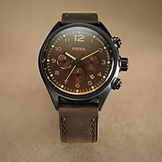 cannot resist a fossil watch. especially not something so chocolatey.