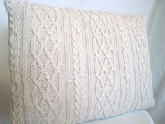 Cable Knit Sweater Pillow- not sure about this pattern but I'm sure she has other options available