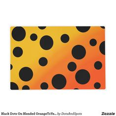 Black Dots On Blended OrangeToYellow Laminated Place Mat