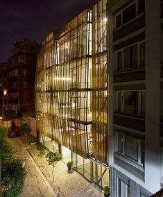 Apartment facade design by Alatas Agency, Istanbul, Turkey