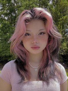 Hair Color Streaks, Hair Dye Colors, Cut My Hair, Hair Cuts, Hair Inspo, Hair Inspiration, Shot Hair Styles, Long Hair Styles, Aesthetic Hair