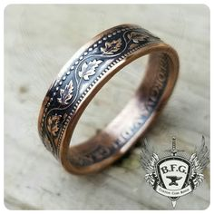 Your place to buy and sell all things handmade Women Jewelry, Male Jewelry, Unique Jewelry, Black Tiara, Coin Ring, Stackable Bracelets, Men Necklace, Hand Engraving, Vintage Rings