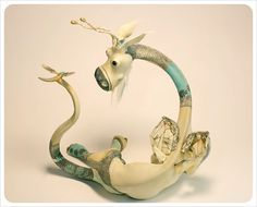 ooak Dragon Sculpture  DRAGON Art Doll    Fantasy by theFiligree