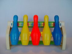 Vintage Fisher Price Bowling Game Toy by GandTVintage on Etsy