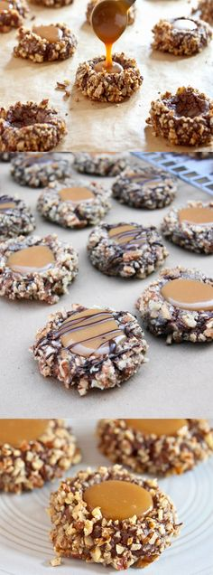 turtle thumbprint cookies pecans vanilla caramel recipe holidays bite size christmas cookies easy better baking bible blog