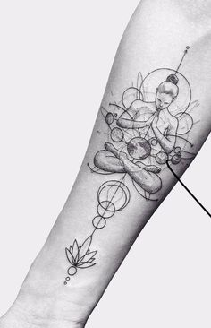 Cosmic Tattoos That Will Take You To The Limits Of Space - Cosmic Tattoos That Will Take You To The Limits Of Space Das schönste Bild für healthy lunch idea - Abstract Tattoo Designs, Geometric Tattoo Design, Abstract Tattoos, Watercolor Tattoos, Abstract Watercolor, Buddha Tattoo Design, Buddha Tattoos, Buddha Lotus Tattoo, Mandala Tattoo
