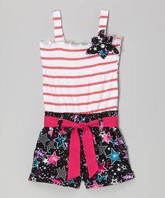 Pink & Black Star Romper - Infant, Toddler & Girls by Pink House #zulily #zulilyfinds
