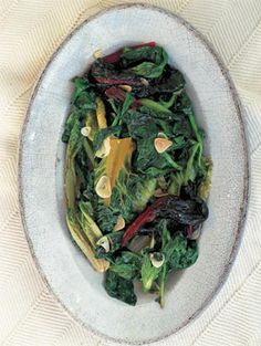 This dish can be eaten either cold as an antipasto or warm as a vegetable contorno. The great thing about it is that you can use any combination of greens, such as baby cabbage leaves, Swiss chard and even salad leaves like cos, gem or Romaine.