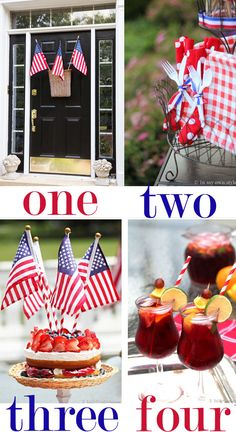 We've got Diane from In My Own Style​ sharing four easy ways she adds the spirt of red, white, and blue to the festivities. Everything from door decor to adorable tabletop ideas on today's guest blog post. wwwinmyownstyle.com